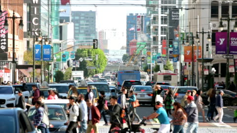 san francisco crowds - pedestrian stock videos & royalty-free footage