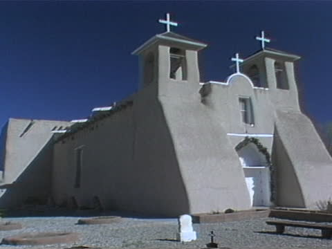 of san francisco de asis mission church - new mexico stock videos & royalty-free footage