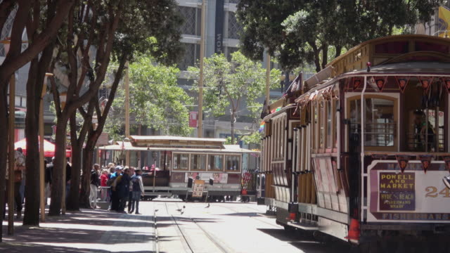 san francisco downtown at powell street. - san francisco california video stock e b–roll