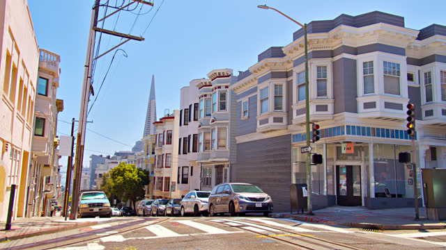 san francisco downtown. residential building. - san francisco california stock videos & royalty-free footage