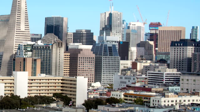 san francisco downtown view - san francisco bay area stock videos & royalty-free footage