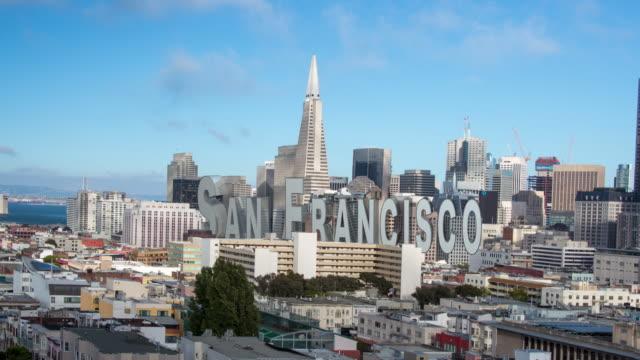 サンフランシスコのダウンタウンの眺め - 文字点の映像素材/bロール