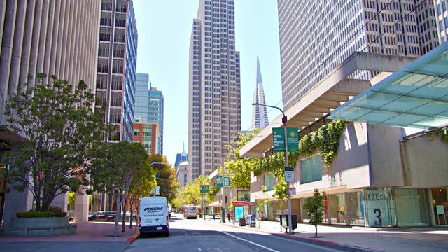 san francisco financial district - san francisco bay stock videos & royalty-free footage