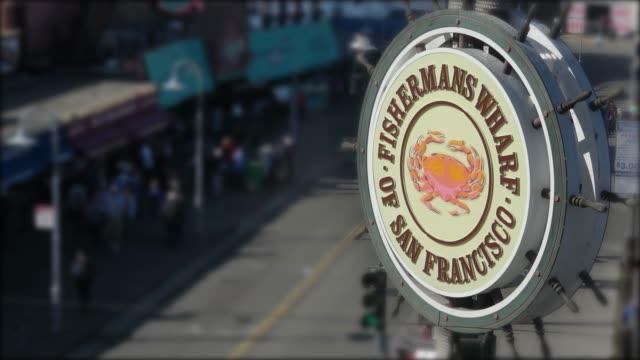 san francisco - fisherman's wharf - fisherman's wharf san francisco stock videos & royalty-free footage