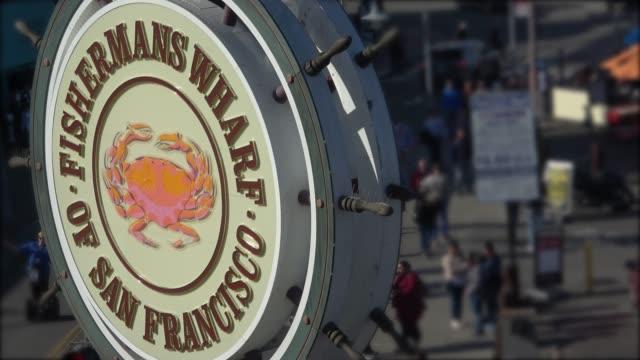 san francisco - fisherman's wharf - pier 39 san francisco stock videos & royalty-free footage