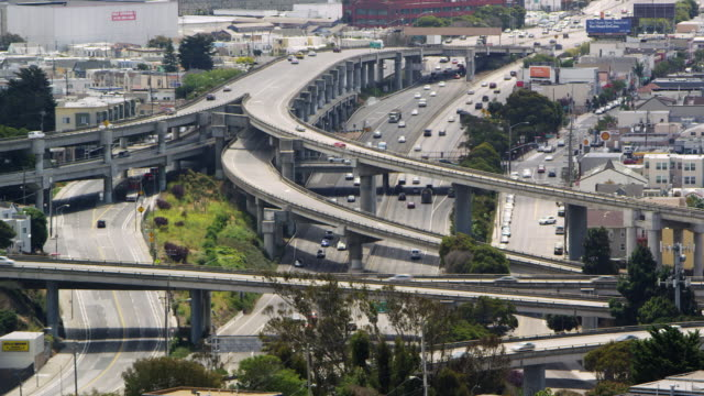 san francisco freeway timelapse - northern california stock videos & royalty-free footage