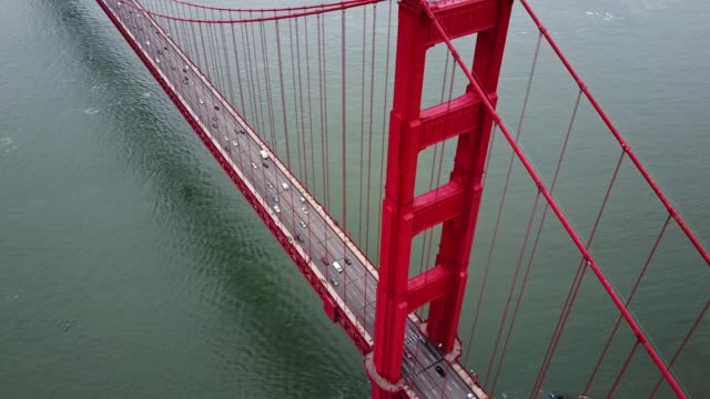 san francisco golden gate bridge traffic - golden gate bridge stock videos & royalty-free footage