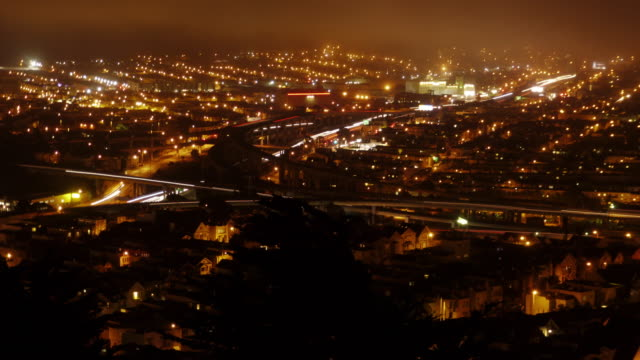 San Francisco Highway at Night - Time-lapse