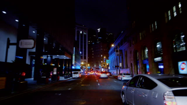 san francisco in the night - california street san francisco stock videos & royalty-free footage