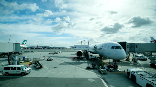 san francisco international airport runway and airplane in usa at daytime - san francisco international airport stock videos & royalty-free footage