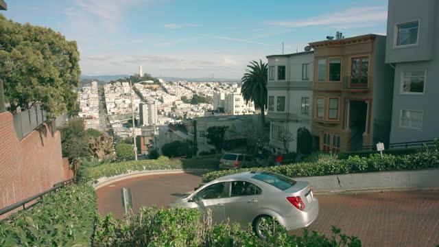 san francisco lombard street - lombard street san francisco stock videos & royalty-free footage