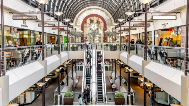 san francisco mall time lapse - shopping centre stock videos & royalty-free footage