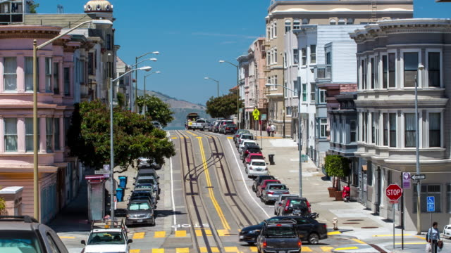 san francisco - mason street - san francisco california stock videos & royalty-free footage