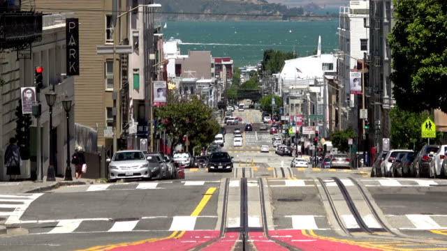 san francisco nob hill view - nob hill stock videos & royalty-free footage