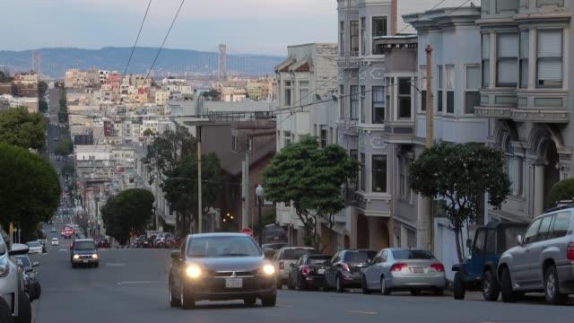 Arquitetura norte da praia de San Francisco na rua da União