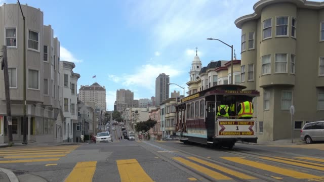 san francisco north beach architecture - cable car stock videos & royalty-free footage
