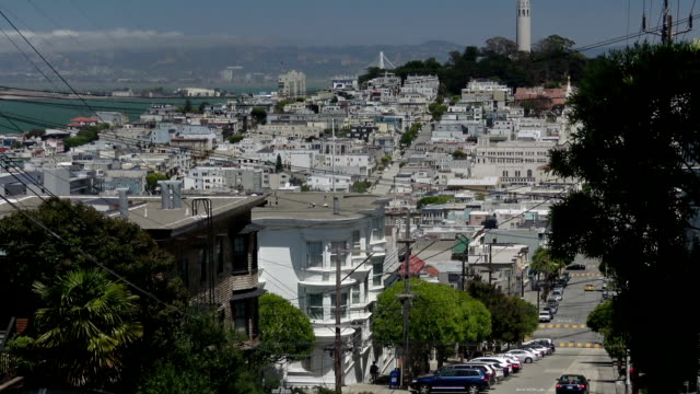 san francisco north beach architecture - coit tower stock videos & royalty-free footage