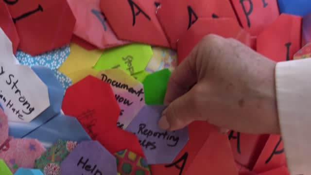 CA: Thousands of origami hearts to support San Francisco's Asian community