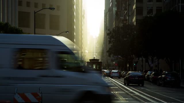 San Francisco Powell Street Cable Cars - Moton Control Timelapse at Sunset