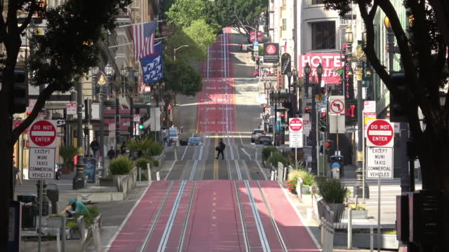 stockvideo's en b-roll-footage met san francisco powell street zonder verkeer - san francisco california