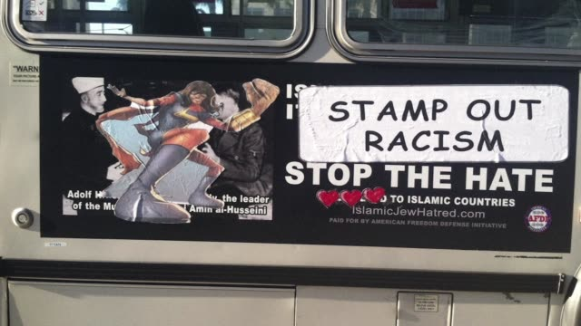 San Francisco residents have responded with outrage to a local bus campaign that appeared to compare Muslims to the Nazis