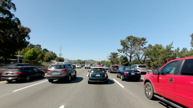 san francisco richmond bridge time lapse front view california driving - car point of view stock videos & royalty-free footage