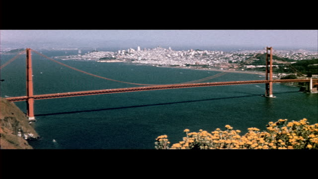 1955 san francisco scenics - golden gate bridge stock videos & royalty-free footage