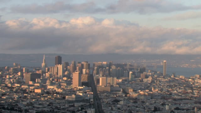 san francisco skyline day to night time lapse - california gold rush stock videos and b-roll footage