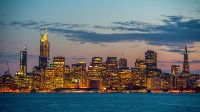 San Francisco Skyline - Day to Night Time Lapse