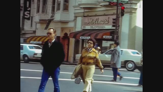 san francisco street view in 70's - san francisco california stock videos & royalty-free footage