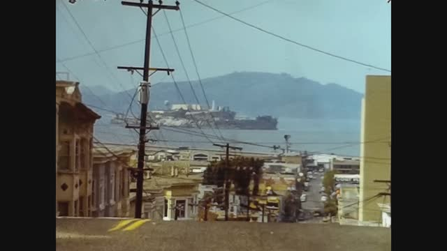 san francisco street view in 70's - san francisco bay area stock videos & royalty-free footage