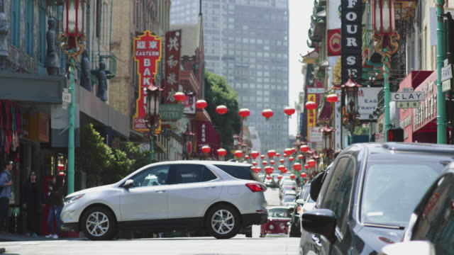 san francisco streets: chinatown - chinatown stock videos & royalty-free footage