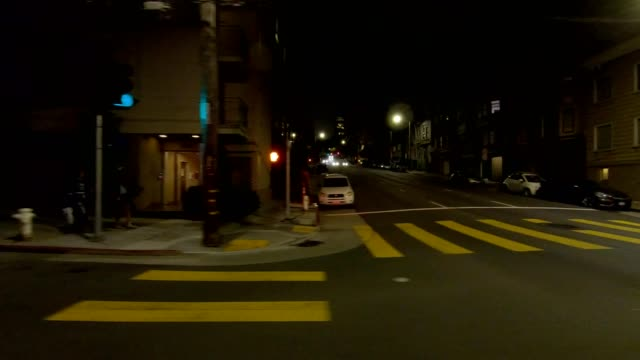 san francisco suburb vii synced series left view driving process plate - headlight stock videos & royalty-free footage