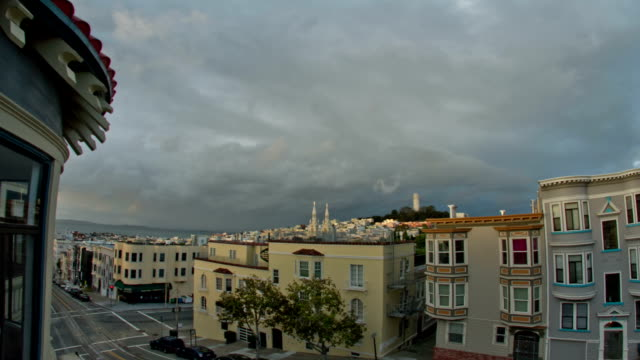 san francisco sunset - north beach san francisco stock videos and b-roll footage