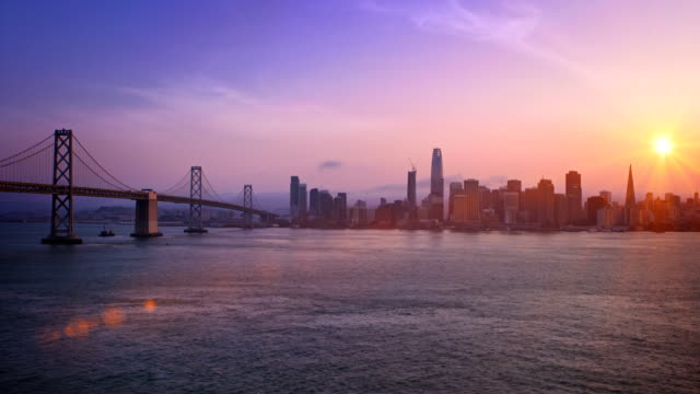 san francisco sonnenuntergang - san francisco stock-videos und b-roll-filmmaterial