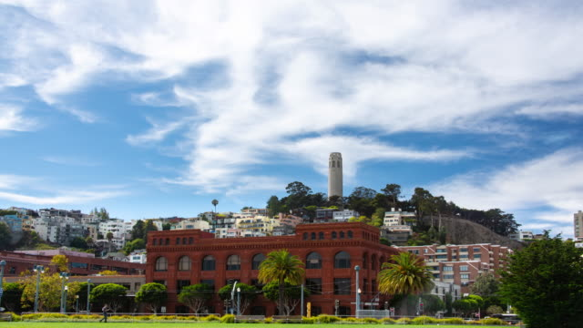 サンフランシスコのテレグラフヒル - コイトタワー点の映像素材/bロール