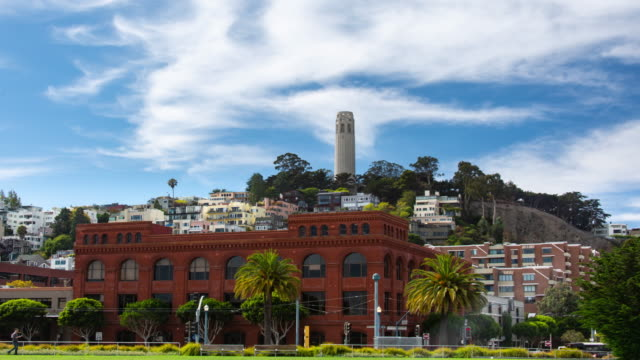san francisco telegraph hill - coit tower stock videos & royalty-free footage