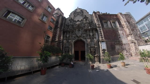 san francisco temple in mexico city - torre latinoamericana stock videos & royalty-free footage