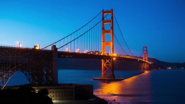 san francisco timelapse - famous place stock videos & royalty-free footage