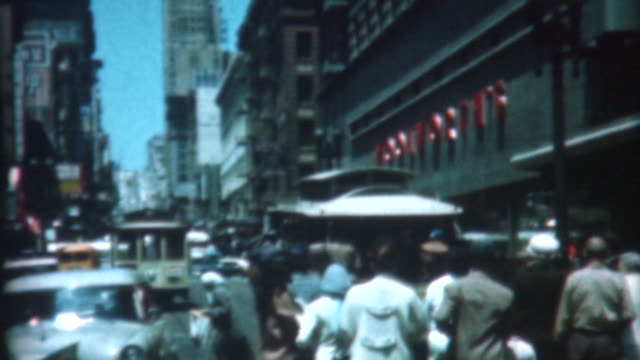 san francisco trolley - 1959 - 1959 stock-videos und b-roll-filmmaterial