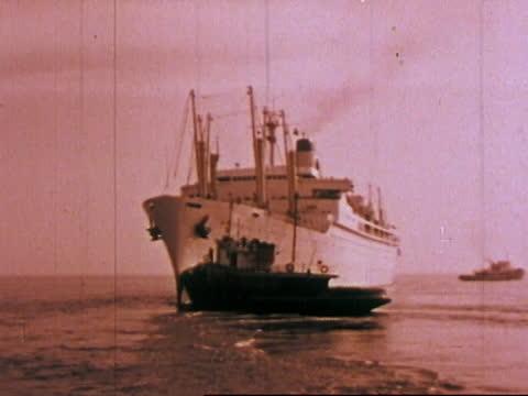 1963 san francisco - tugboats, workhorses of the bay - san francisco bay stock videos & royalty-free footage