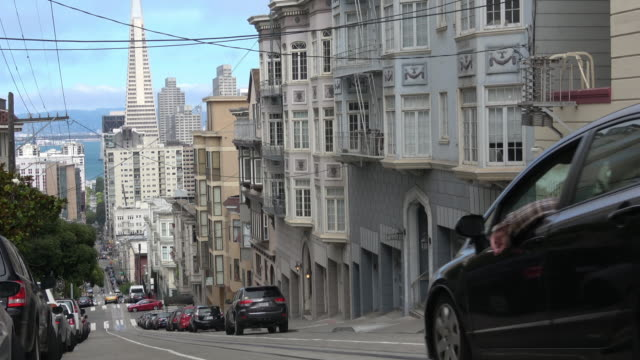 san francisco victorian architecture - nob hill stock videos & royalty-free footage