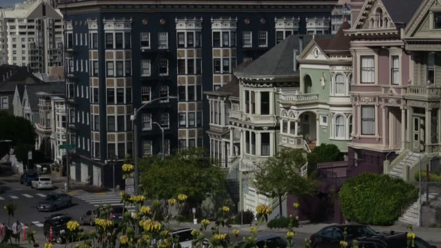 san francisco victorian homes - 19th century style stock videos and b-roll footage