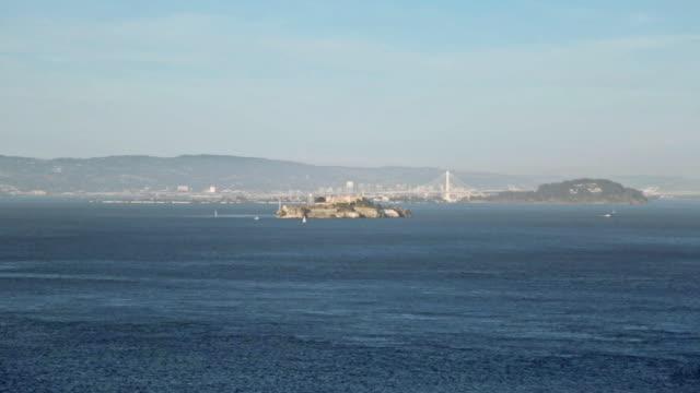 san francisco - アルカトラズ島点の映像素材/bロール