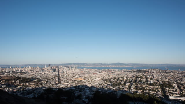 san francisco wide day to night timelapse - san francisco bay area stock videos & royalty-free footage