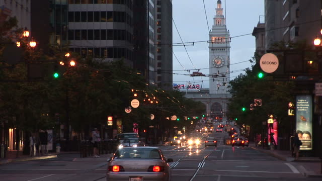 San FranciscoCity Street at magic hour in San Francisco United States