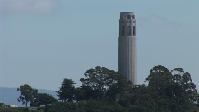 san franciscocoit tower in san francisco united states - コイトタワー点の映像素材/bロール