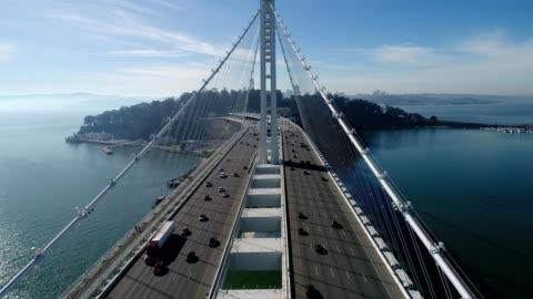 vidéos et rushes de san francisco-oakland bay bridge - pont