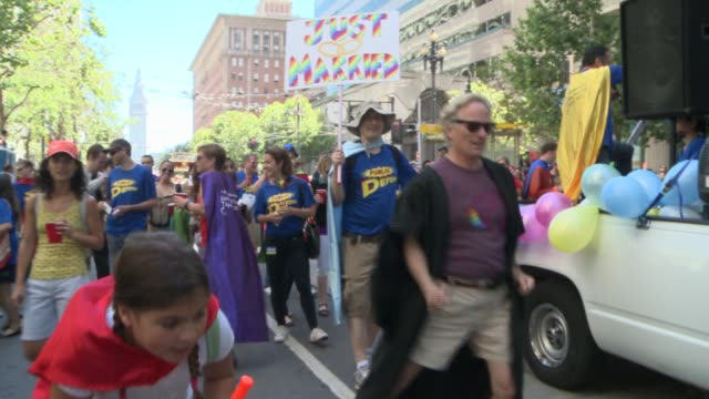 san francisco's 44th annual lgbt pride parade drew up to a million participants the theme this year color our world with pride - pride stock videos & royalty-free footage