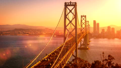 san francisco's bay bridge - san francisco kalifornien bildbanksvideor och videomaterial från bakom kulisserna